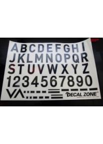 Kleberset Buchstaben & Symbole Nr.12_11955