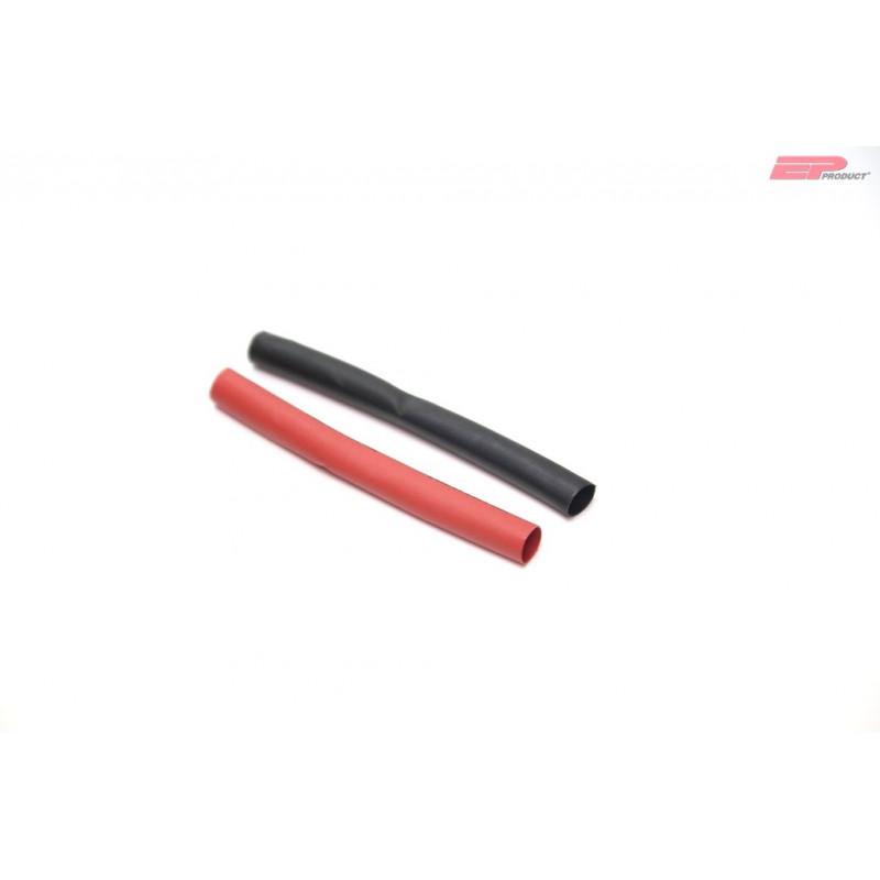 EP Schrumpfschlauch PE 12mm schwarz/rot 1m_12132