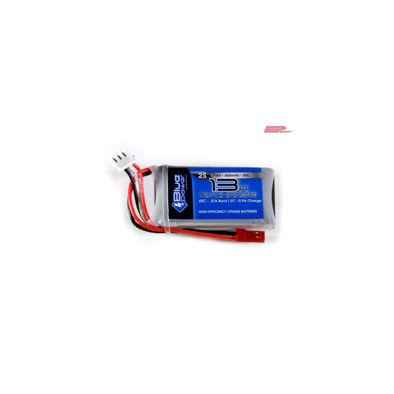 EP BluePower - 2S 7.4V 450mAh 30C 13A (JST)_12353