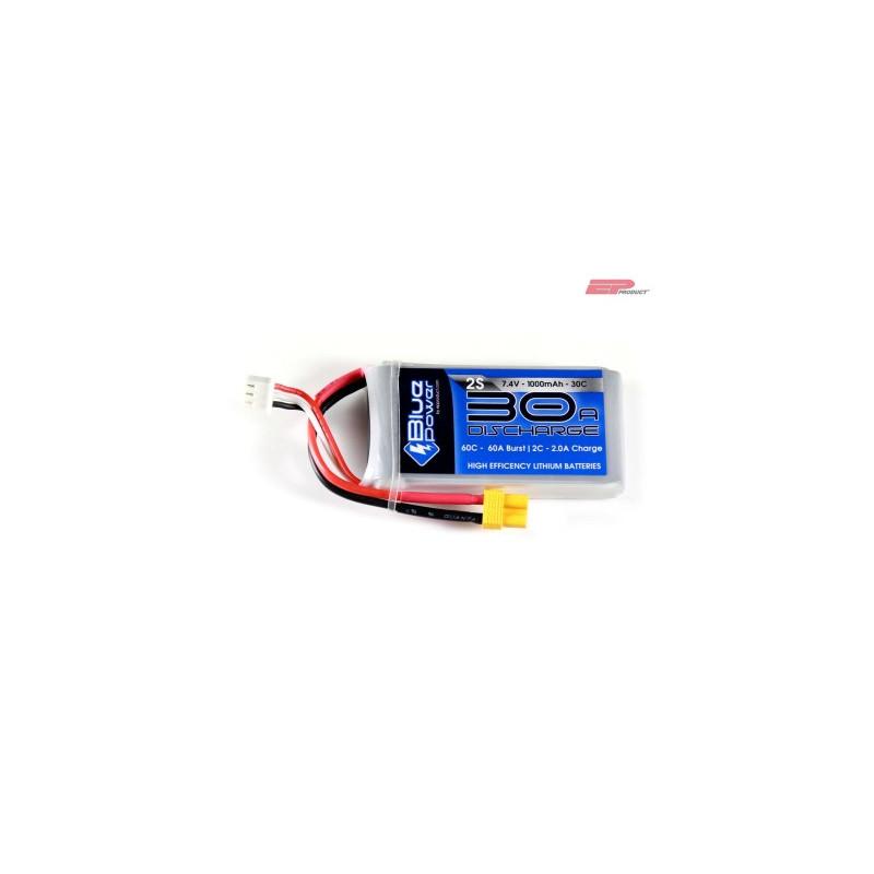 EP BluePower - 2S 7.4V 1000mAh 30C 30A (XT30)_12355