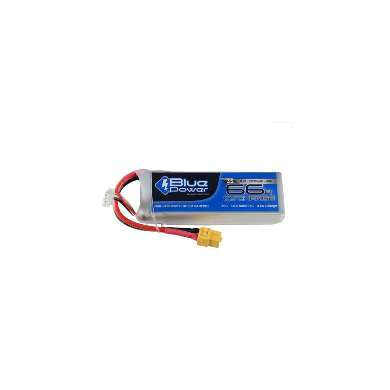 EP BluePower - 3S 11.1V 2200mAh 30C 66A (XT60)_12362