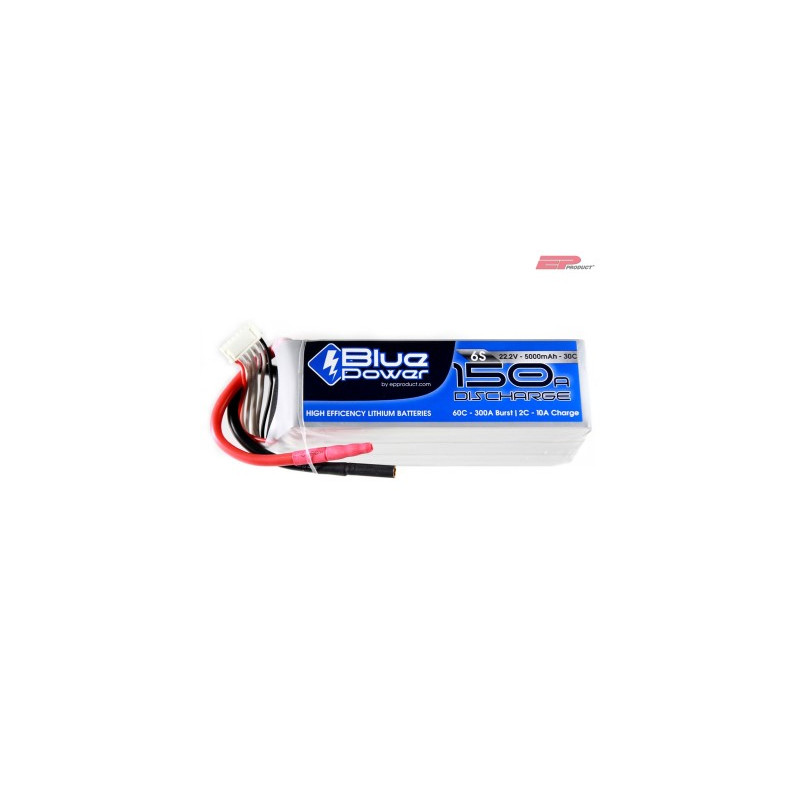 EP BluePower - 6S 22.2V 5000mAh 30C 150A (4mm)_12369
