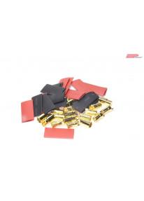 EP Male / Female plug gold 6mm
