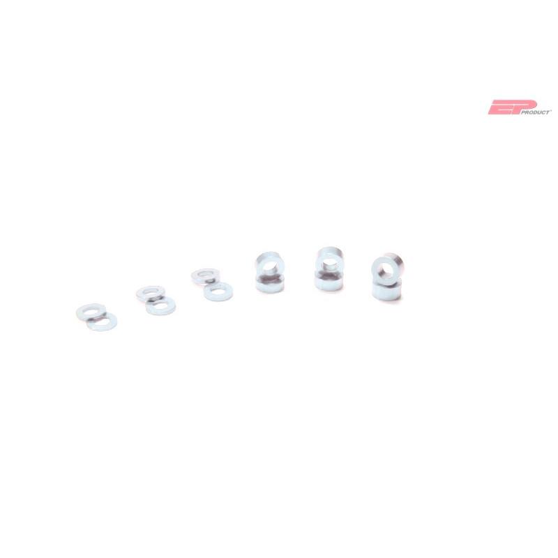 EP Alu Distanzhalter-Hülse M3x2mm - Silber_13319
