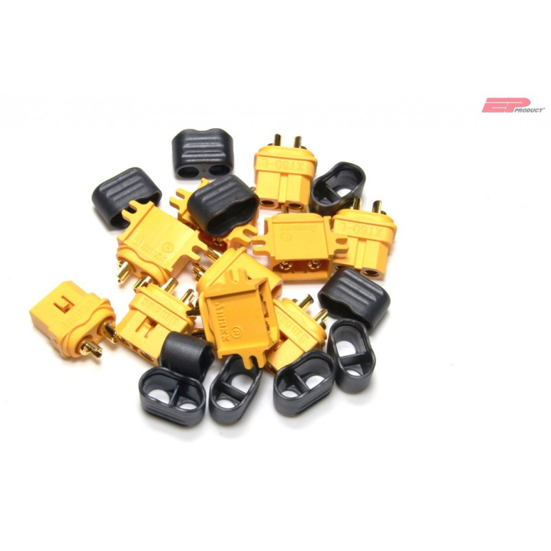 EP XT60-C Stecker / Buchse mit Kabelschutz 5 Paar_14209