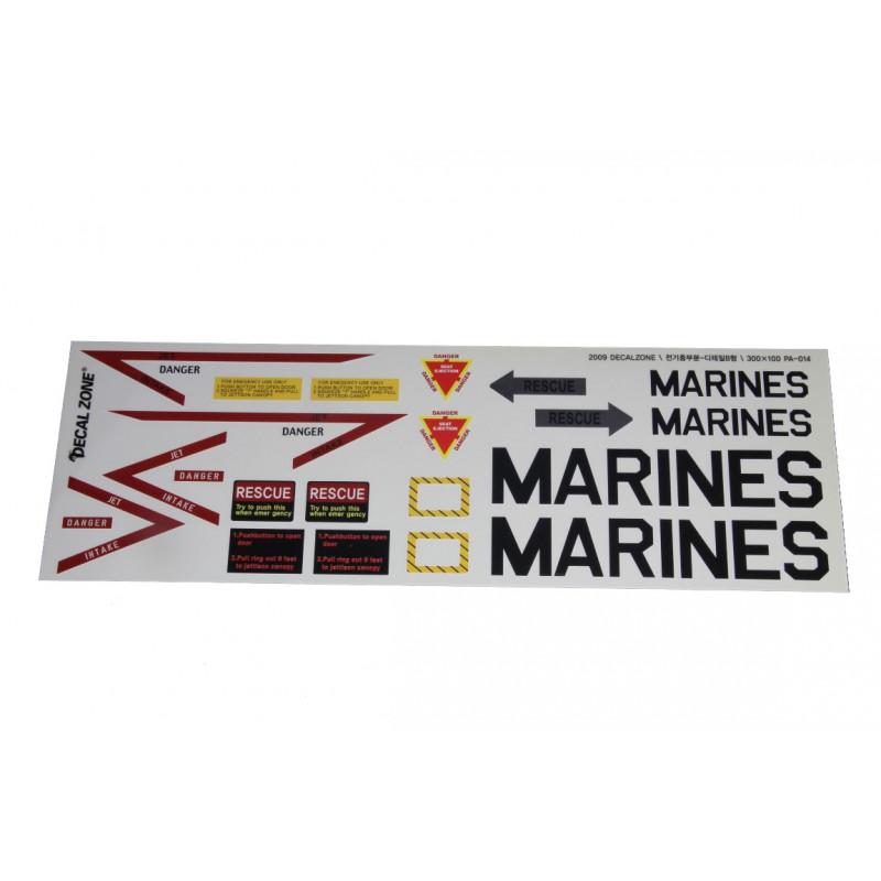 Kleberset Scale Jet US-Marines Nr.10_14686